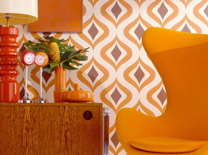 Le orange à gogo des années 70 dans la vie d'une serial blogueuse