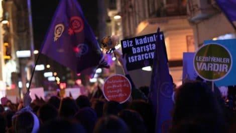 Istanbul Manifestation journee de la femme 2016