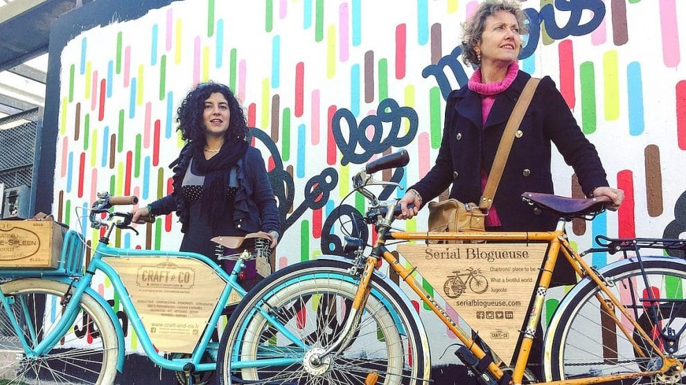 Les aventures des Woody Woodybikers girls Carole Redero Craft & Co et la Serial Blogueuse des Chartrons Isabelle Camus Bordeaux