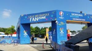 Entrée de la Fan Zone de Lille, avant le début de la compétition