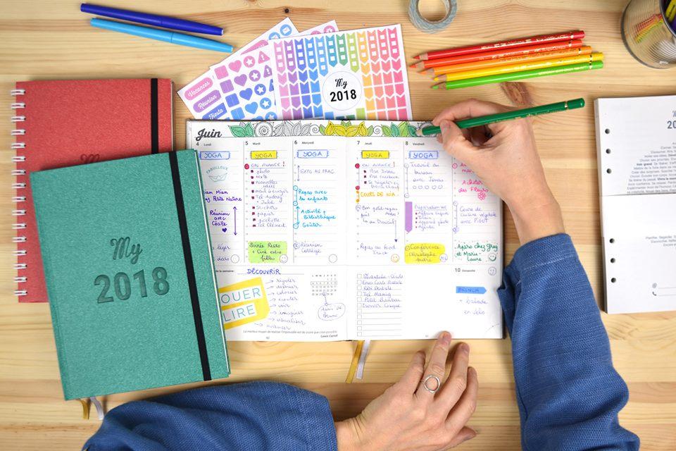 MyAgenda pour colorer, organiser, planifier et améliorer sa vie quotidienne.