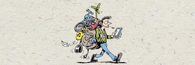 Illustrations et bandes dessinées issues de livres pour changer d'ère