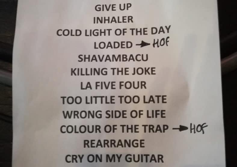 Setlist du concert