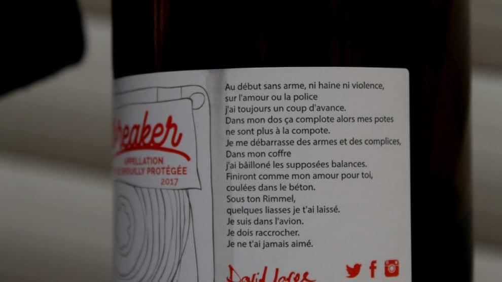 Etiquette du vin Heartbreaker David Large