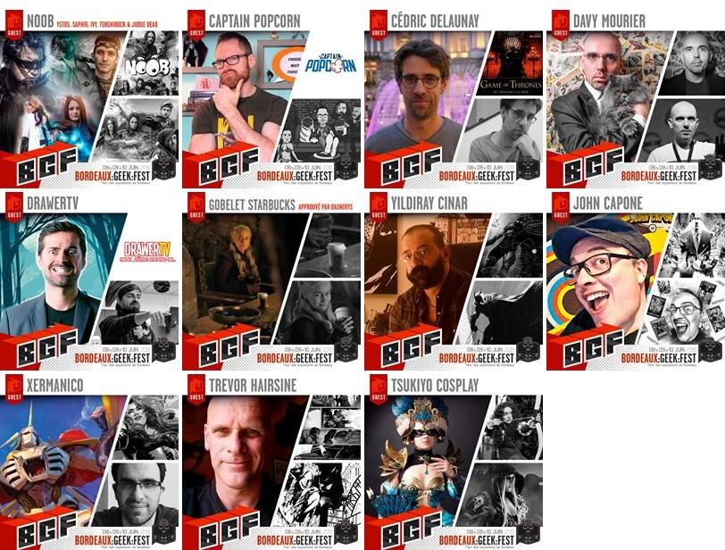 Les invités du Bordeaux Geek Festival