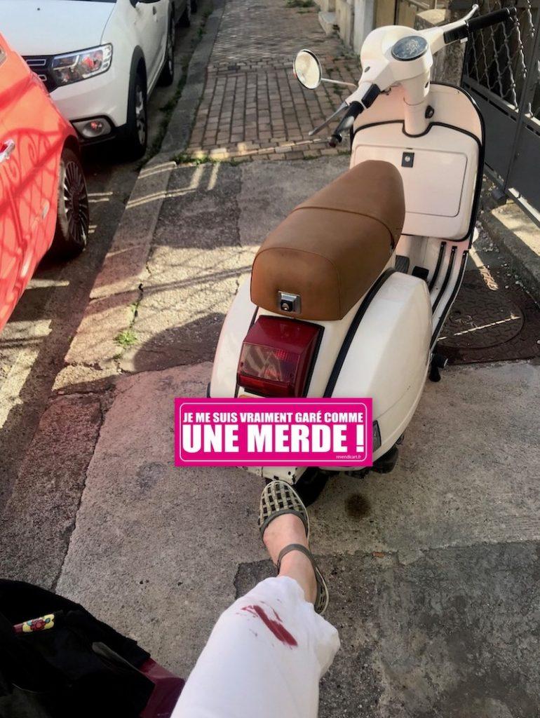 la story du scooter mal garé