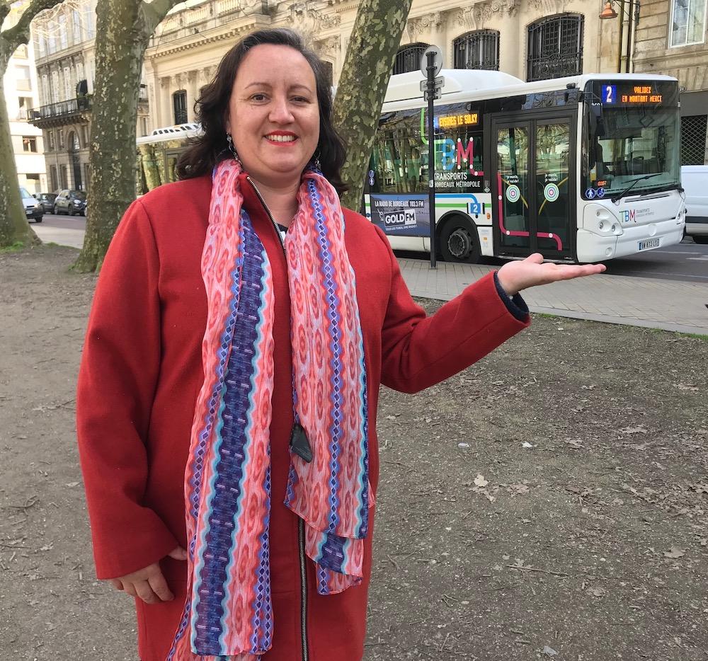 Muriel Sola-Ribeiro chauffeuse de bus à Bordeaux