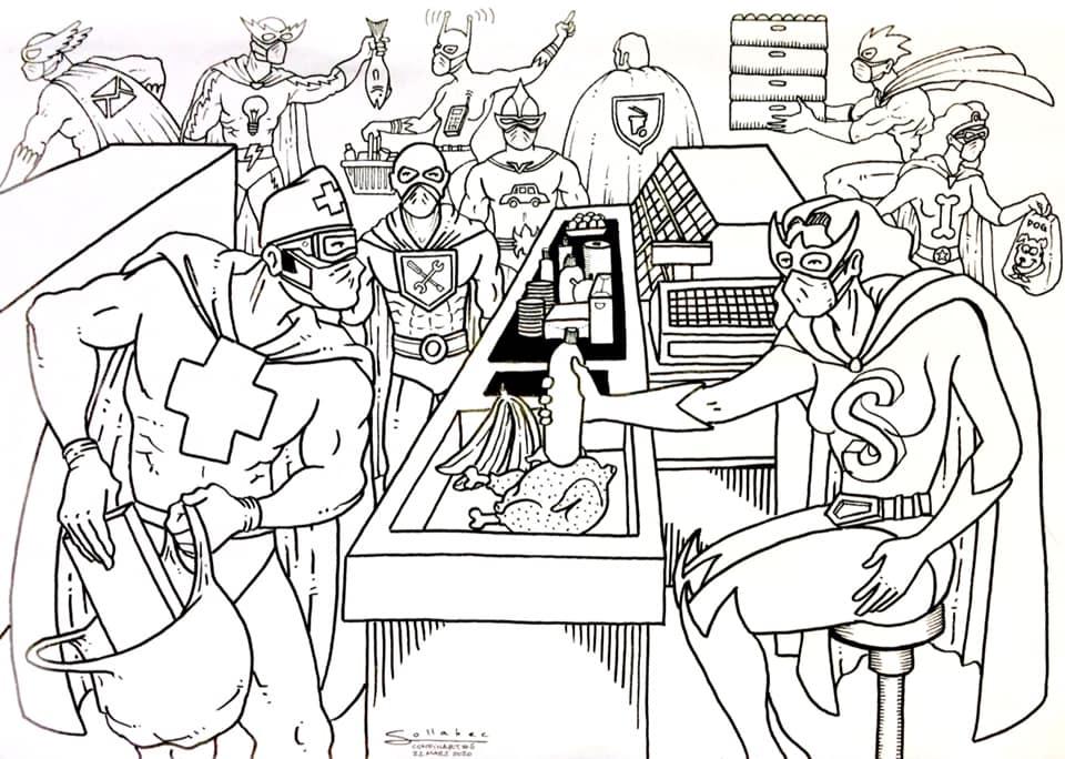 Un des dessins de Mauro Ceballos pour les enfants