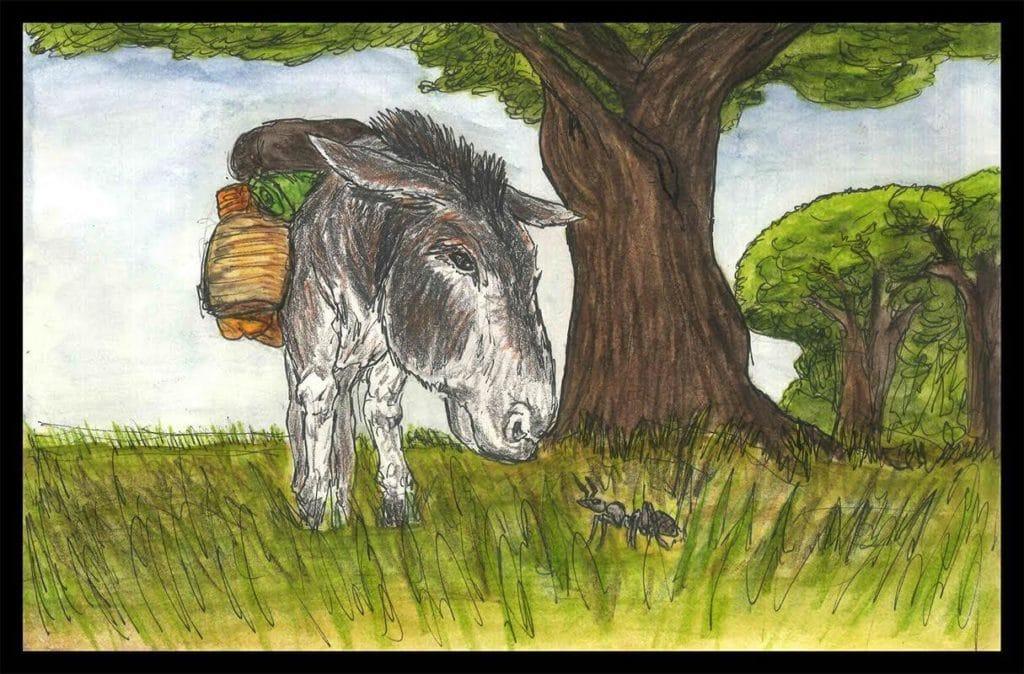 L'âne et la fourmi pour parler de lucidité
