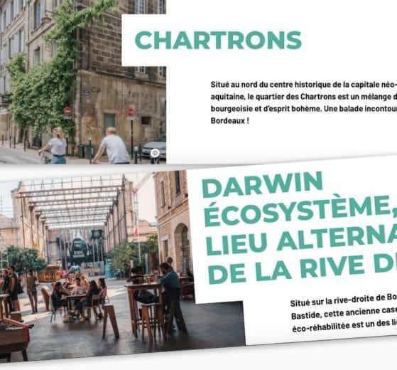 Les Chartrons et Darwin dans le site de l'Office de Tourisme de Bordeaux