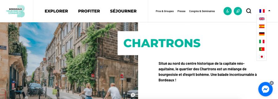 Article sur les Chartrons en anglais