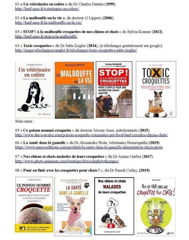 Conseils de lectures Alertes Croquettes Toxiques
