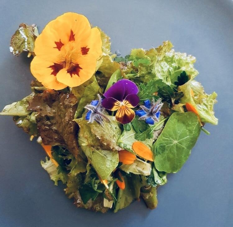 Quand la nature offre ses couleurs avec une salade de fleurs