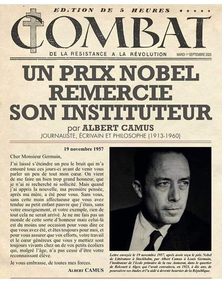 Combat, le journal d'Albert Camus