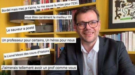 Lionel Lacoux un prof d'histoire-géo de rêve