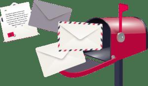 Le plaisir du courrier pour se connecter