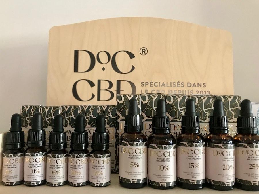 Du CBD dosé de 5% à 25%