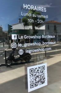 Les horaires du Growshop Bordeaux Chartrons