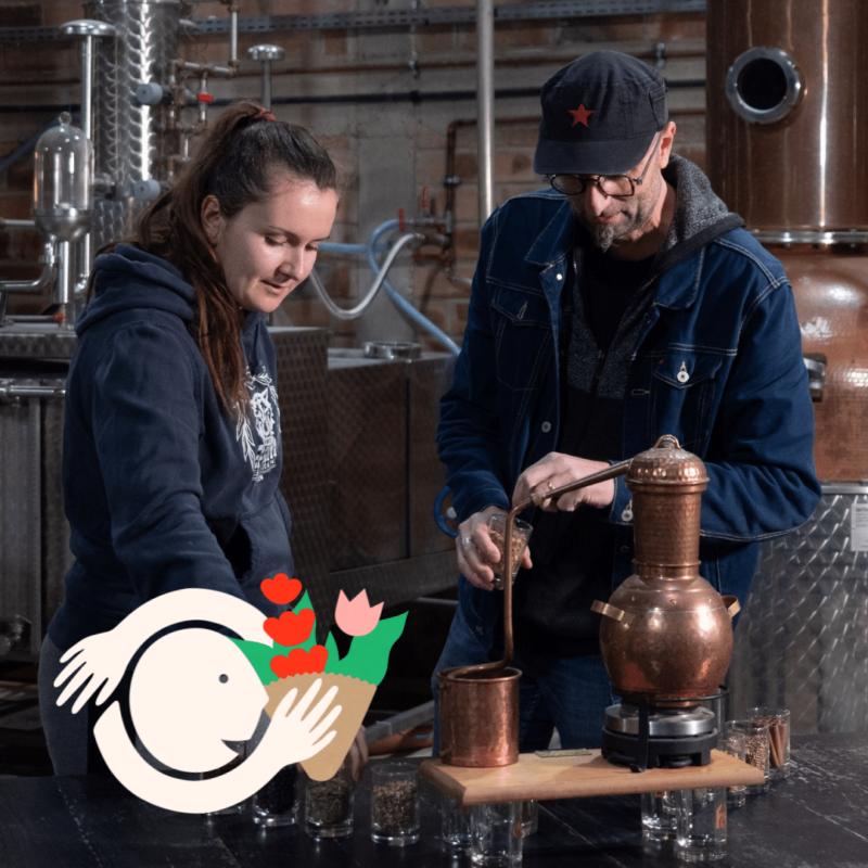 un atelier distillation