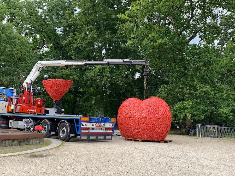 Installation du Abalone Heart à Bordeaux