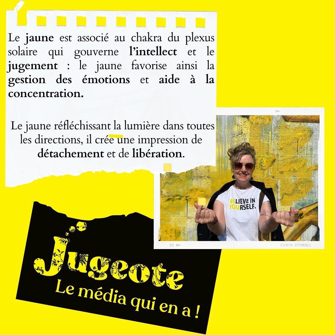 Pour Jugeote le média qui en a, Yellow is the new black